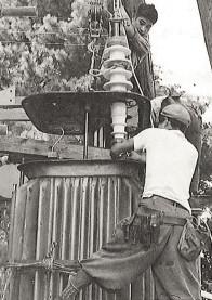 1959(昭和34年)高田変電所点検
