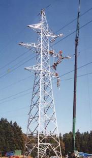1995年(平成7年)送電現場