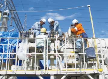 2010年(平成22年)発変電現場