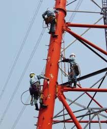 2003年(平成15年)送電塔上訓練