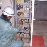 除塵器制御盤改造作業01